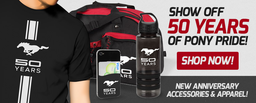 Mustang 50th Anniversary Accessories